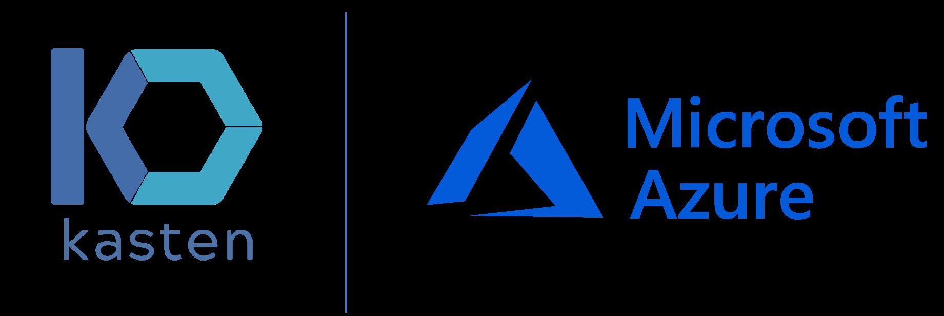 microsoft-azure-with-kasten-k10 logos