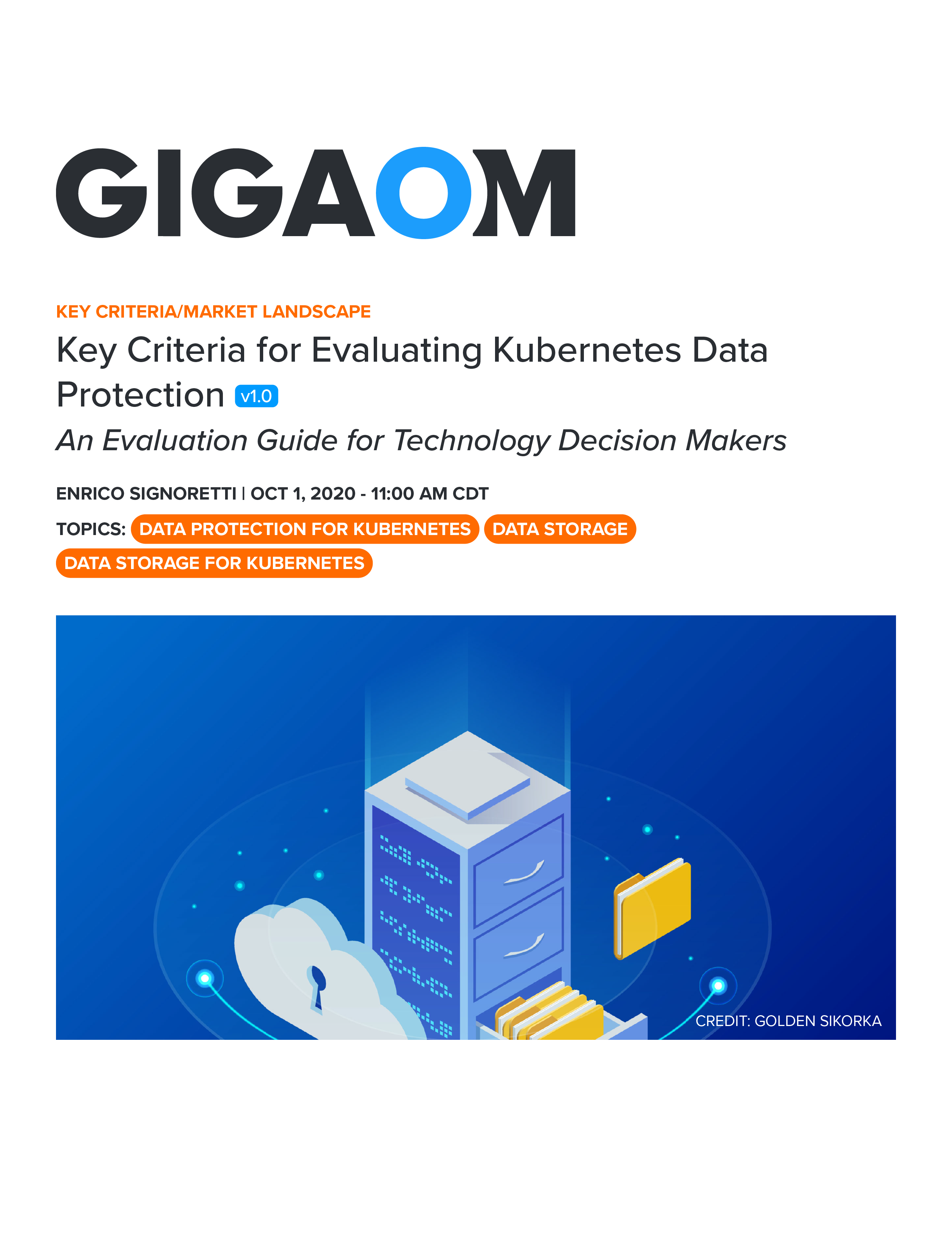 GigaOm Key Criteria for Evaluating Kubernetes Data Protection